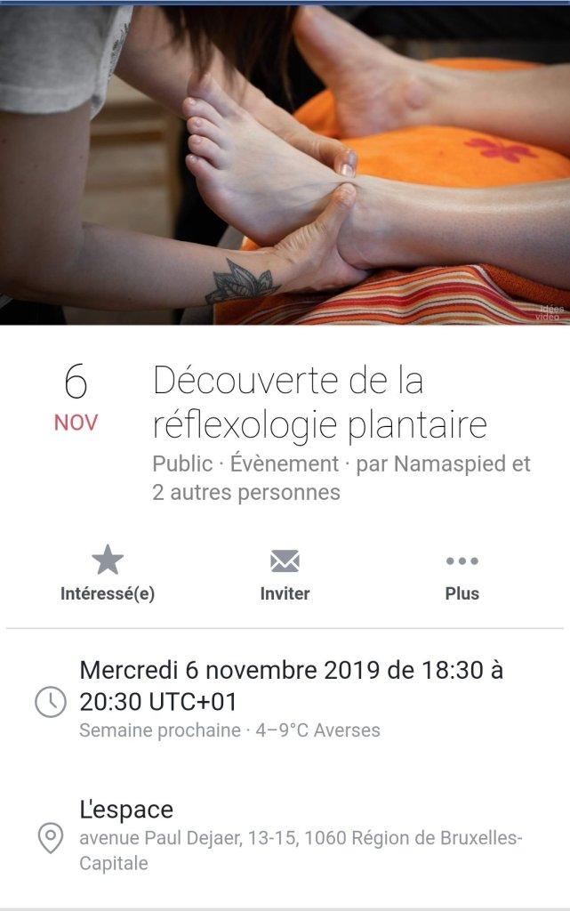 Conférence réflexologie plantaire